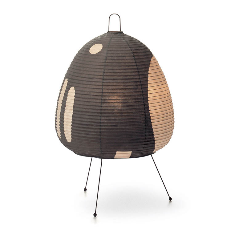 akari 1ag noguchi table light with tripod base black