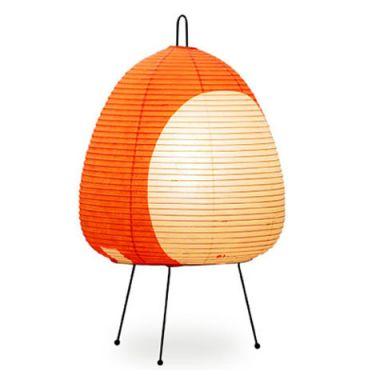 Akari 1AT Noguchi Table Light With Tripod Base, Orange ...