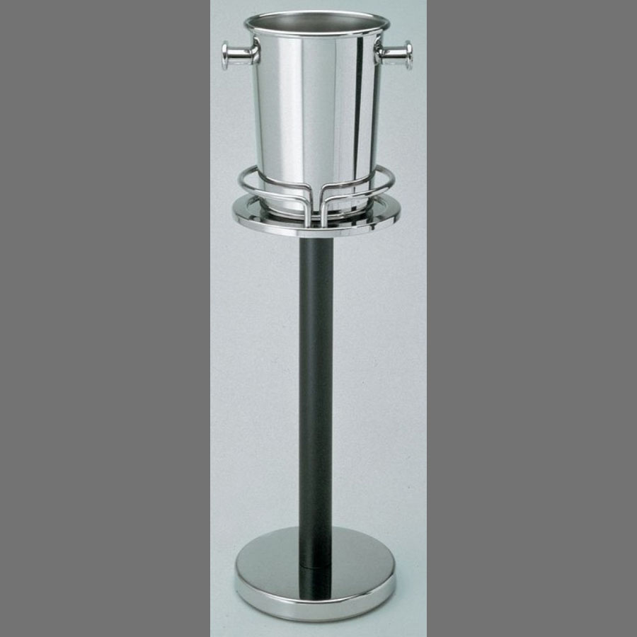 wine bucket stand  alessi  stainless steel wine bucket stand  - alessi  steel wine bucket