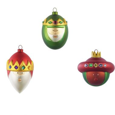 ... AMJ14SET2 'Three Kings' Christmas Glass Ornaments by Alessi, ...