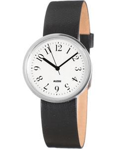 Alessi AL6000 Record Ladies Watch, White Dial w Black Band ...