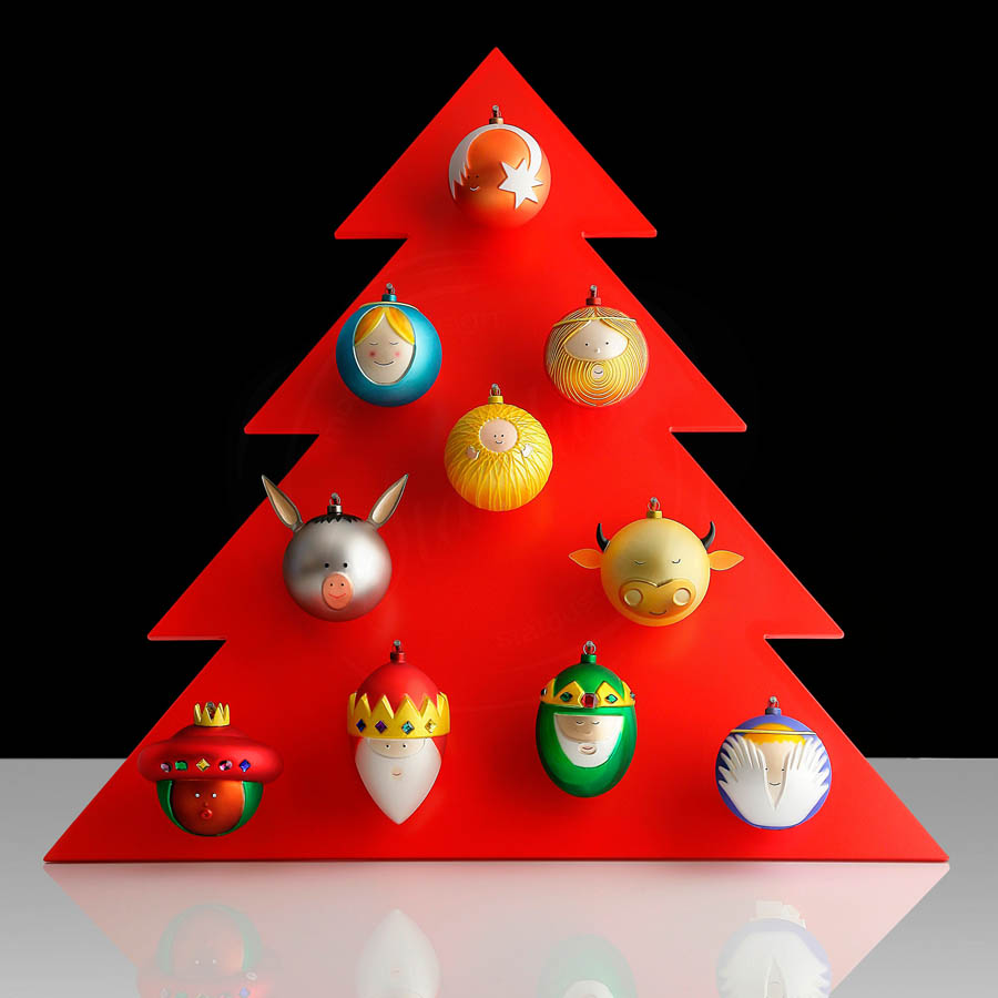 Christmas Tree Balls.Palle Presepe Christmas Tree Ball Ornaments By Alessi Set Of 10