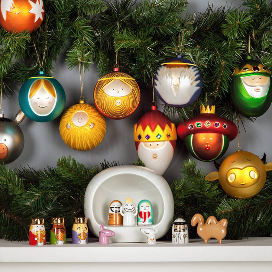 Palle Presepe Christmas Tree Ornaments (Set of 10) by Alessi