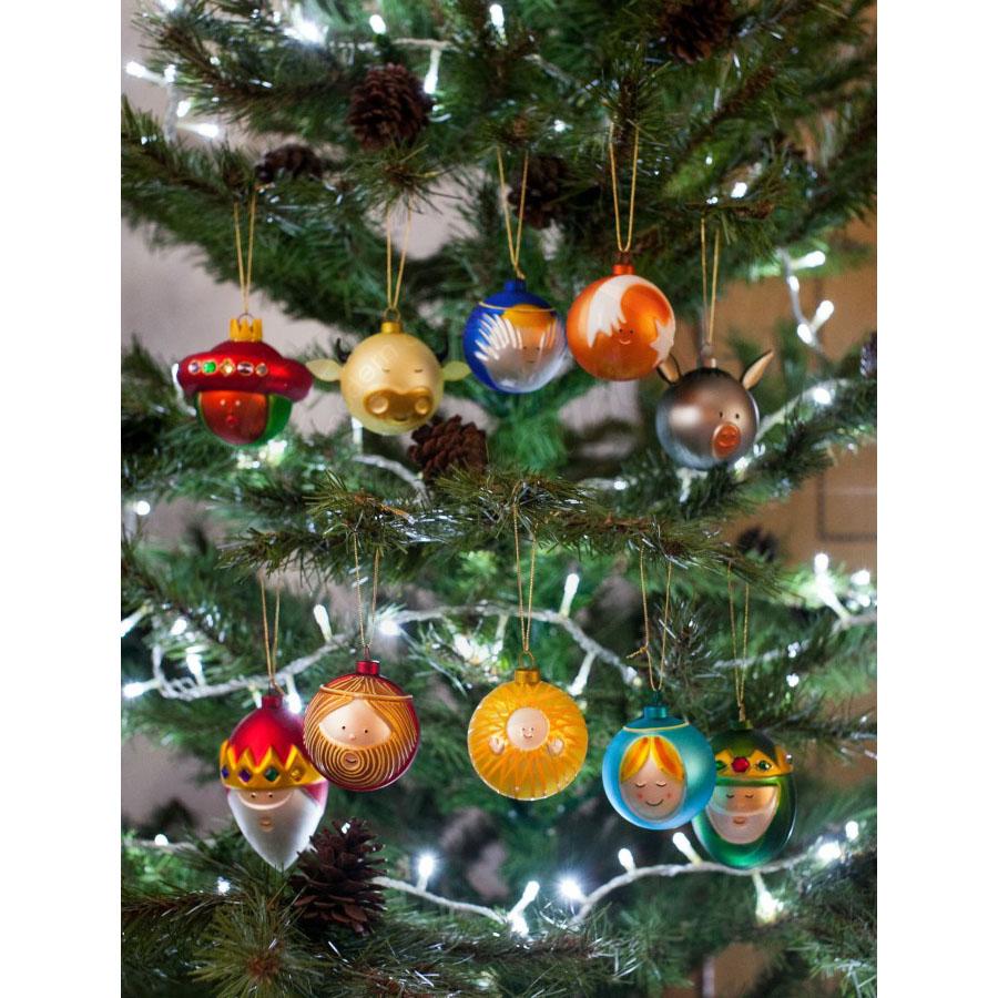 Christmas tree ornaments sets - Palle Presepe Christmas Tree Ball Ornaments