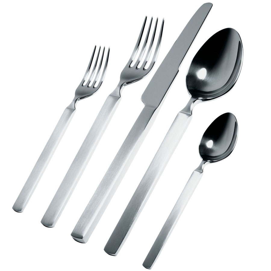 alessi dry piece modern flatware set  s dry cutlery  - alessi