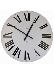 Alessi 12 Firenze White Wall Clock With Roman Numerals