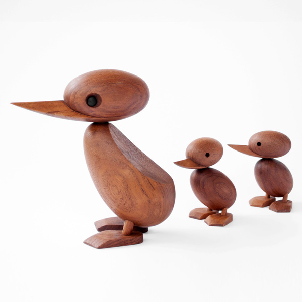 Architectmade wooden duck and duckling by hans bolling 2