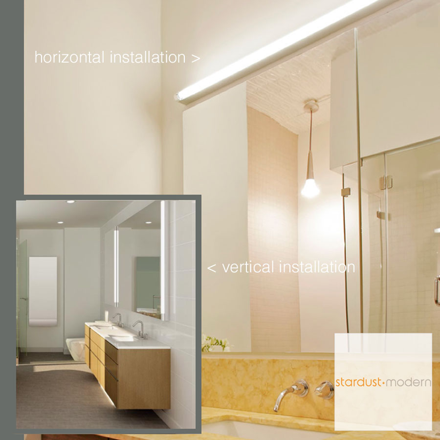 Horizontal Bathroom Sconces basic bathroom strip wall lamp - basic strip light artemide | stardust