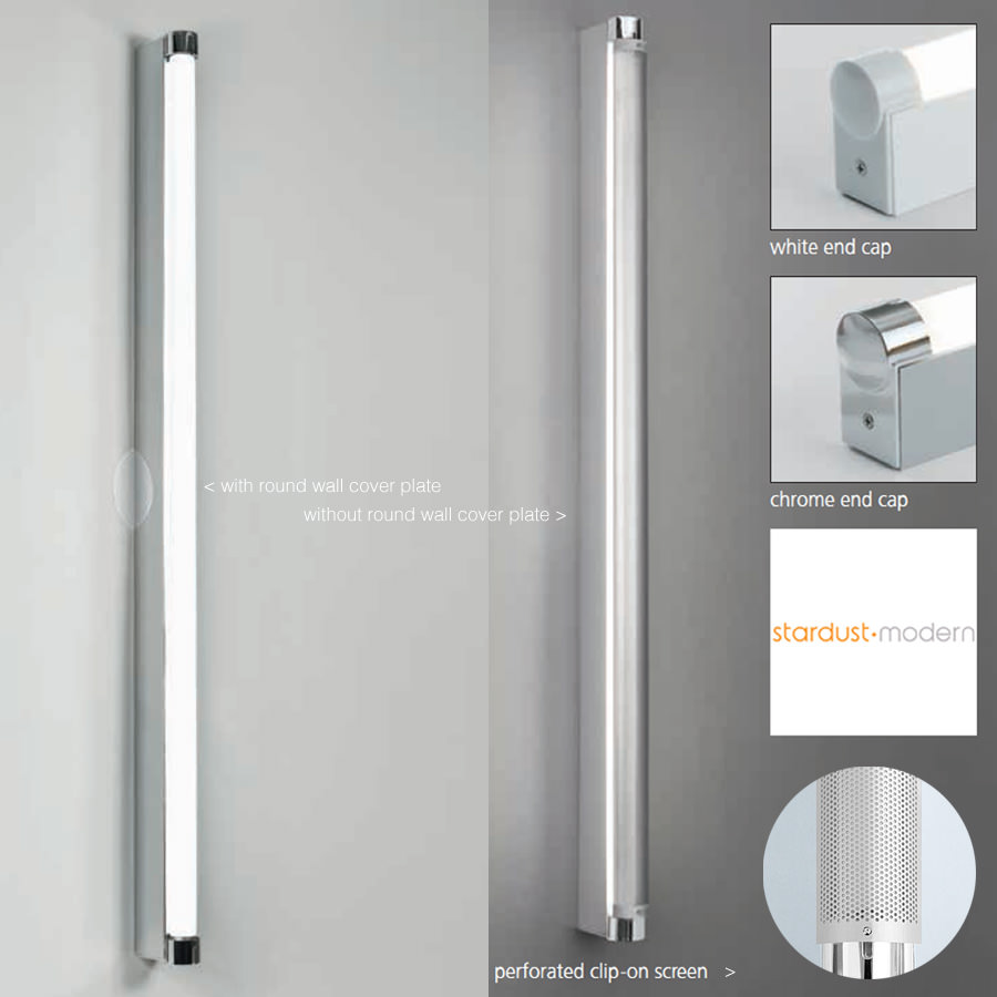 Bathroom Lighting Electrical Zones basic bathroom strip wall lamp - basic strip light artemide | stardust