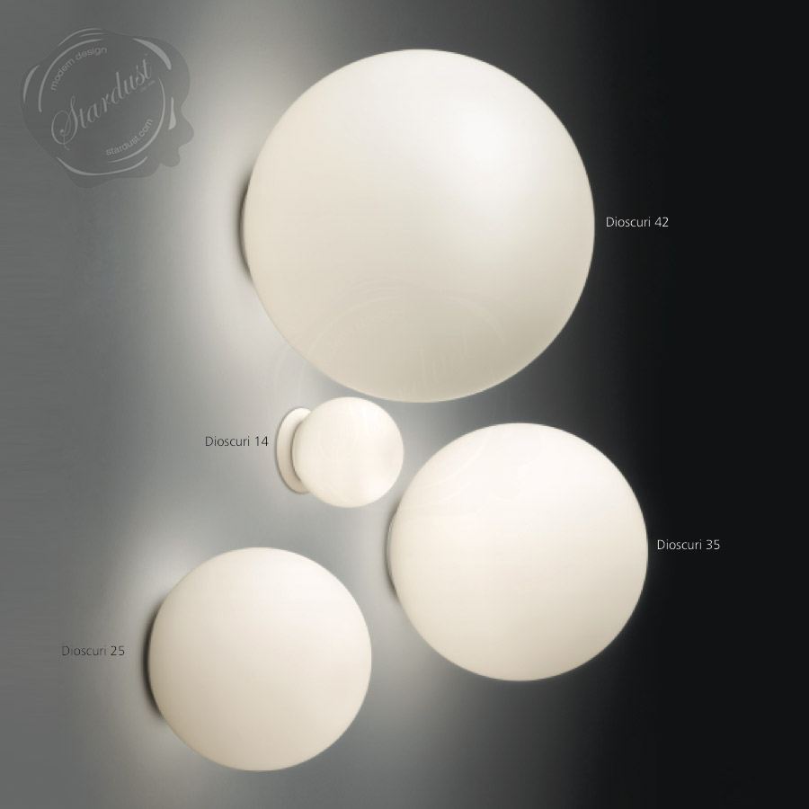 Artemide Dioscuri 25 Wall/Ceiling L& ... : lamp wall sconce - azcodes.com