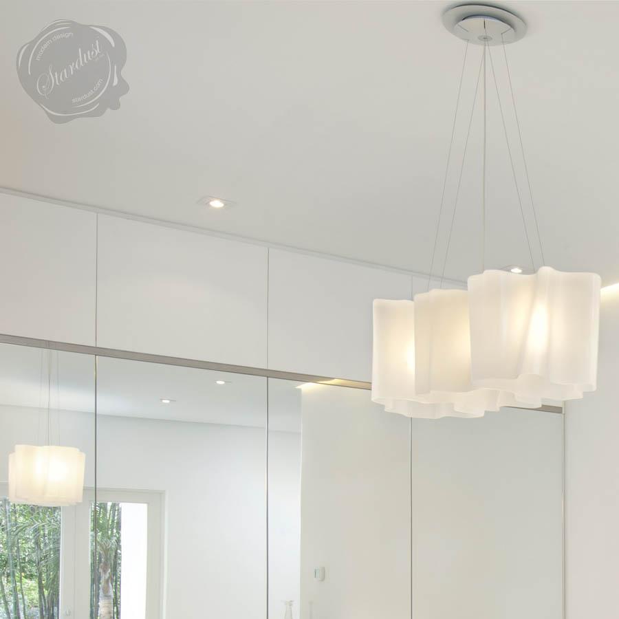 artemide logicor mini triple linear suspension light linear suspended led light fixture. Black Bedroom Furniture Sets. Home Design Ideas