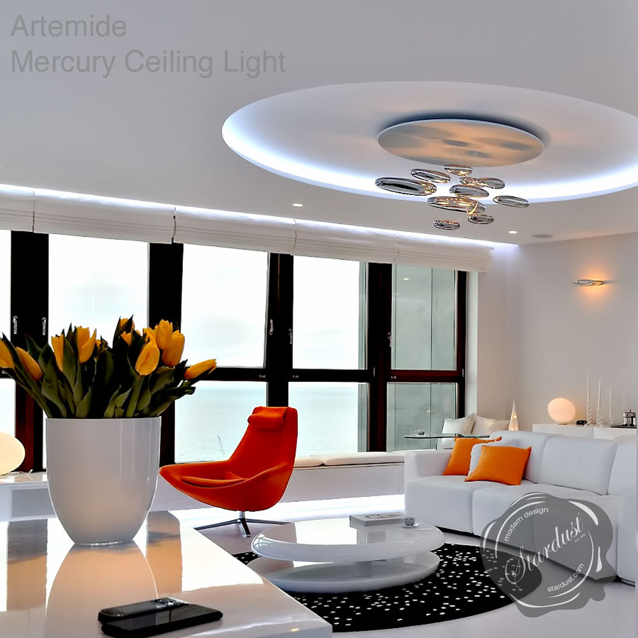 artemide mercury ceiling light by ross lovegrove stardust. Black Bedroom Furniture Sets. Home Design Ideas