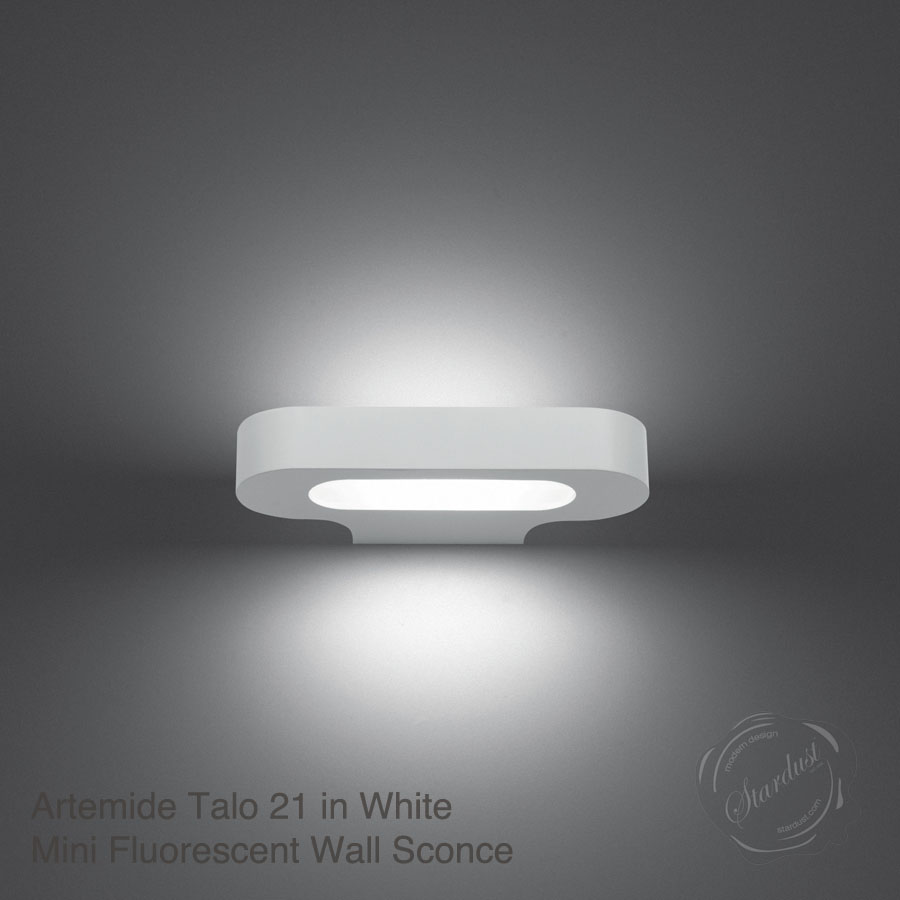 artemide talo 21 mini led wall sconce