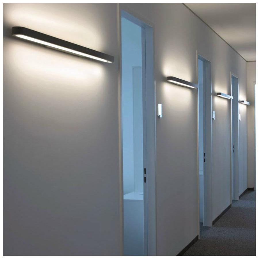 Artemide Talo Fluorescent Wall Strip Light Fixture | Stardust