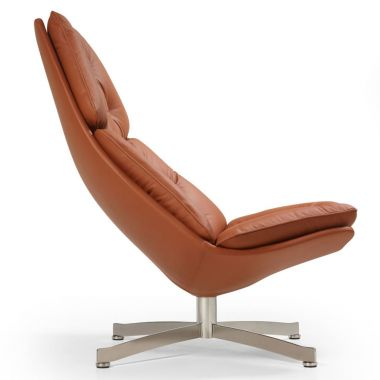 ... Artifort F587 Modern Button Tufted Lounge Chair, Fabric Or Leather