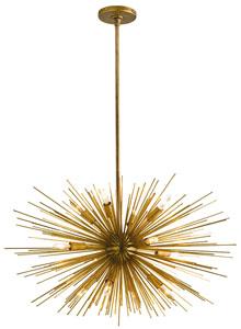ASTRA Mid-Century Sputnik Chandelier w/12 Lights, Brass ...