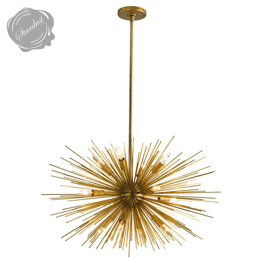 Astra mid century sputnik chandelier w12 lights brass stardust astra mid century sputnik chandelier aloadofball Gallery