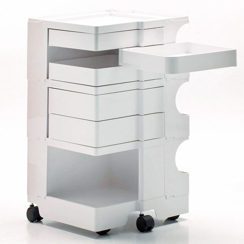 5 Drawer Plastic Rolling Storage Cart With Drawers