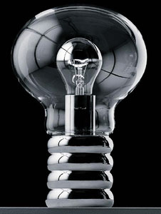 Bulb® 11.8-in Clear Glass w/Steel Table Lamp by Ingo Maurer