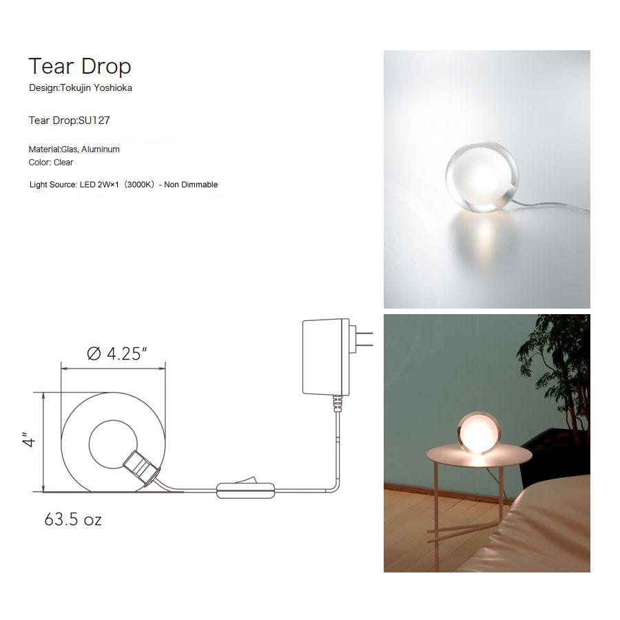 Tear Drop Mini Glass Ball Table Lamp By Tokujin Yoshioka Led