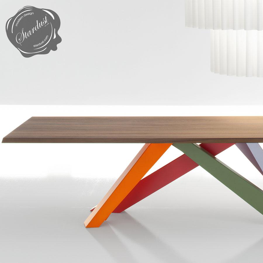 Bonaldo Big Table With Multi Color Legs Stardust