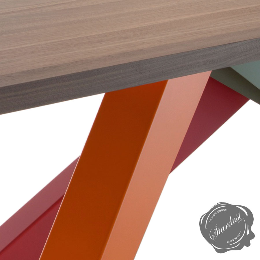 Bonaldo Big Table with Multi-Color Legs | Stardust