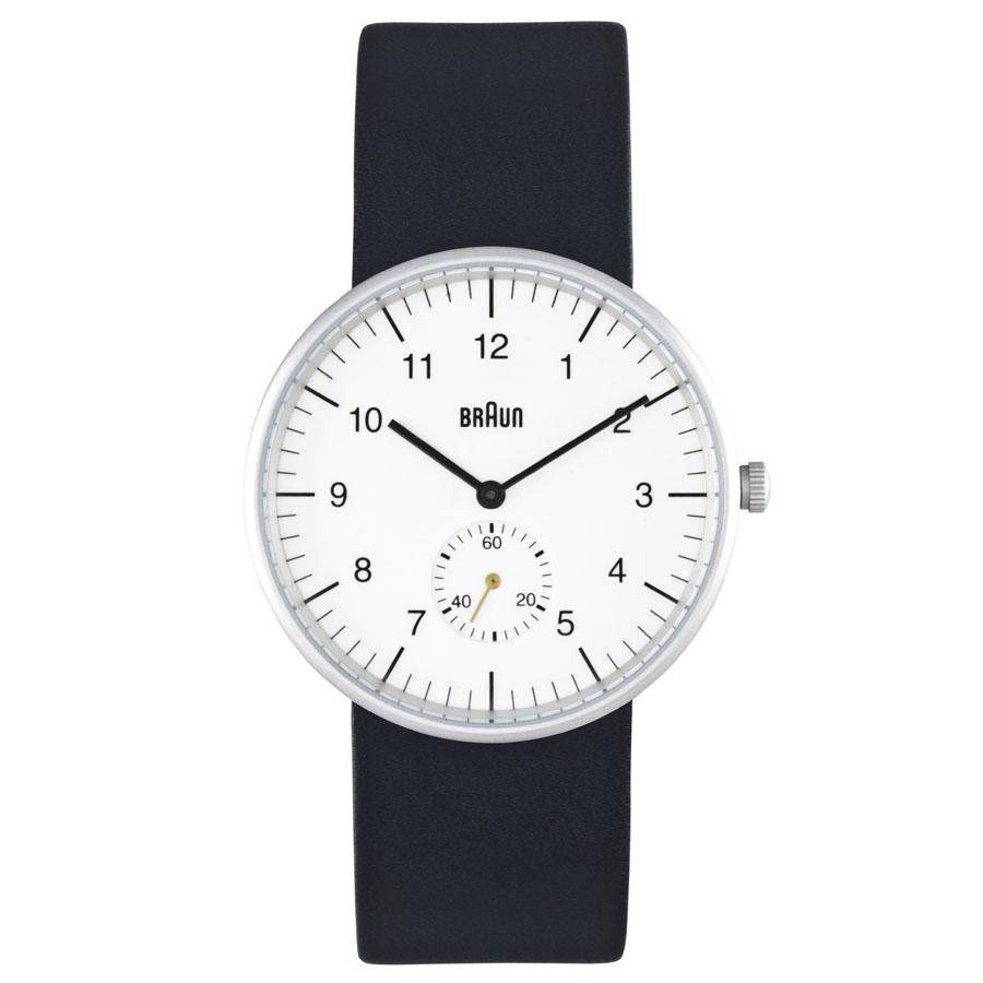 braun men s bn0024whbkg analog wrist watch w black leather band braun men s bn0024whbkg analog wrist watch black leather band white