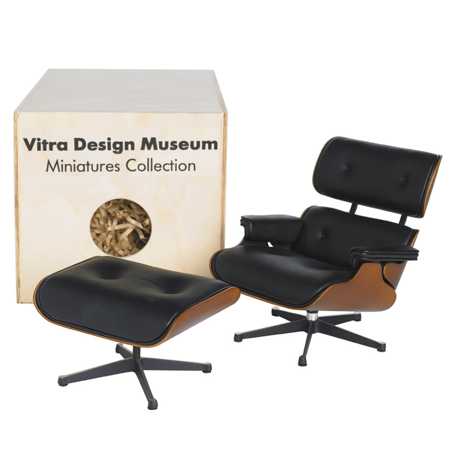 Vitra Miniature Eames Lounge Chair ...  sc 1 st  Stardust Modern Design & Vitra Miniature Eames Lounge Chair and Ottoman | Stardust islam-shia.org