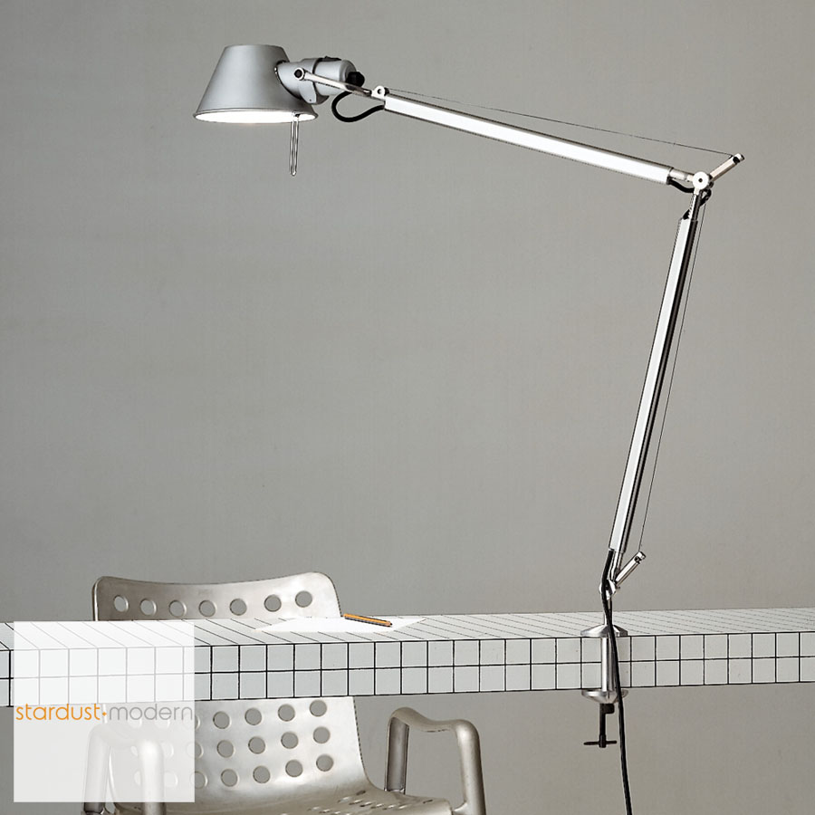 Artemide Tolomeo Classic Table Lamp With Table Clamp Stardust