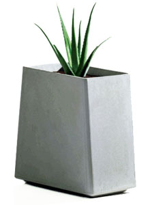 Twista Tall Contemporary 24inch Modern Outdoor Planter