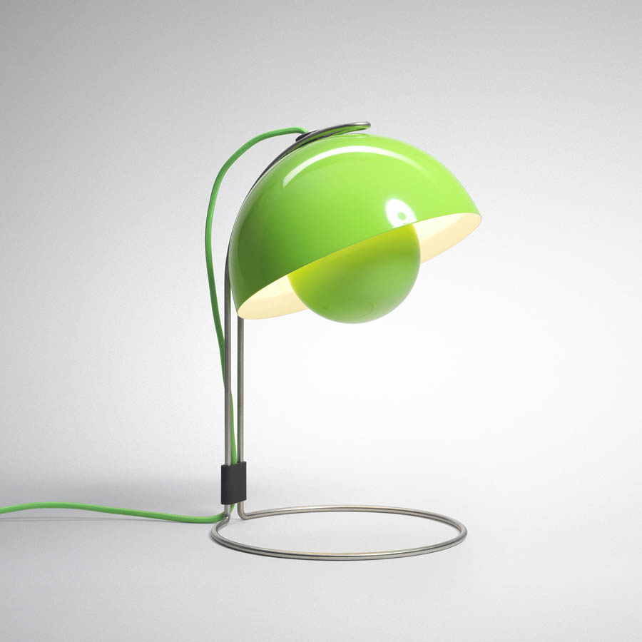 Panton Flowerpot Table Lamp VP4 - Green ... - Panton Flowerpot Table Lamp VP4 - Green Table Lamp Stardust