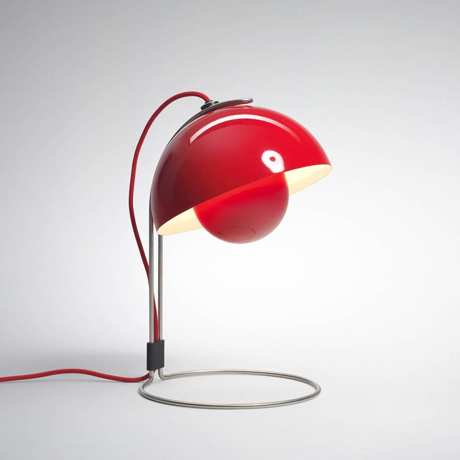 panton flowerpot table lamp vp  red table lamp  stardust - panton flowerpot table lamp vp  red