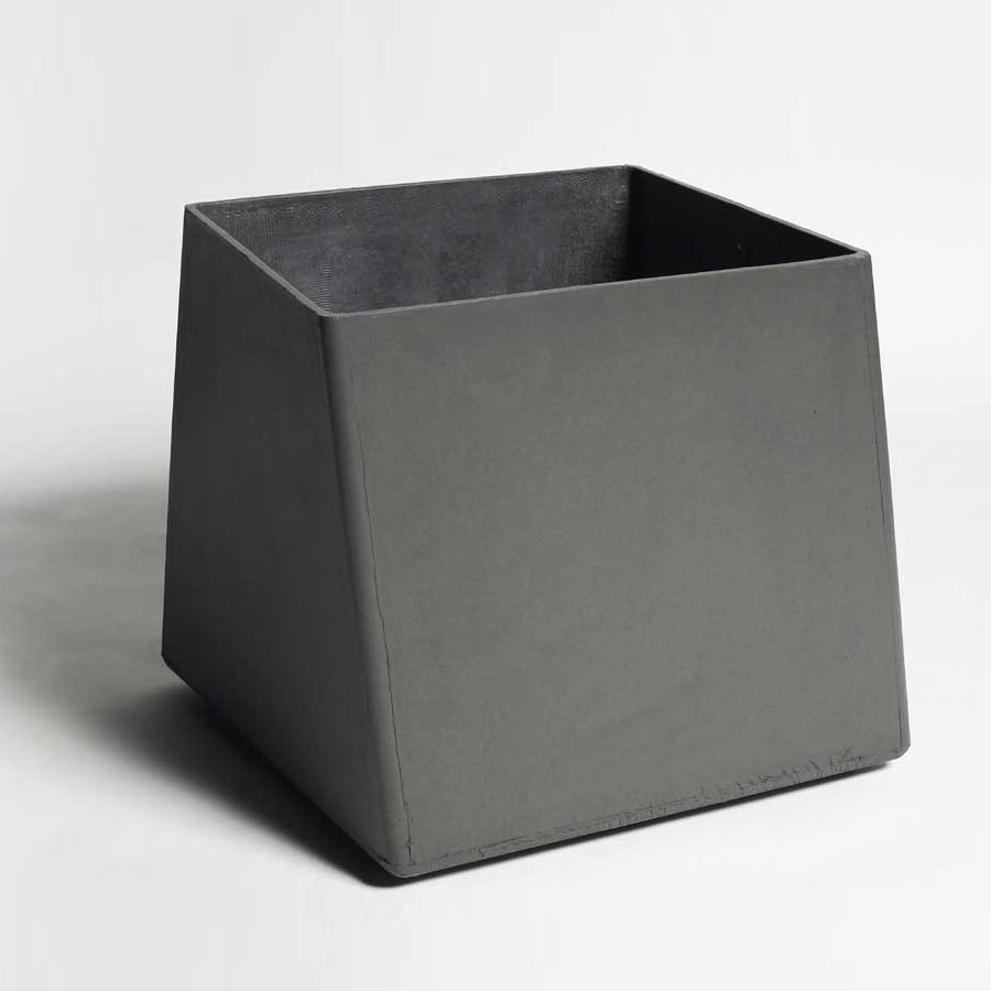 contemporary square large  gal twist cube outdoor planter  stardust - contemporary