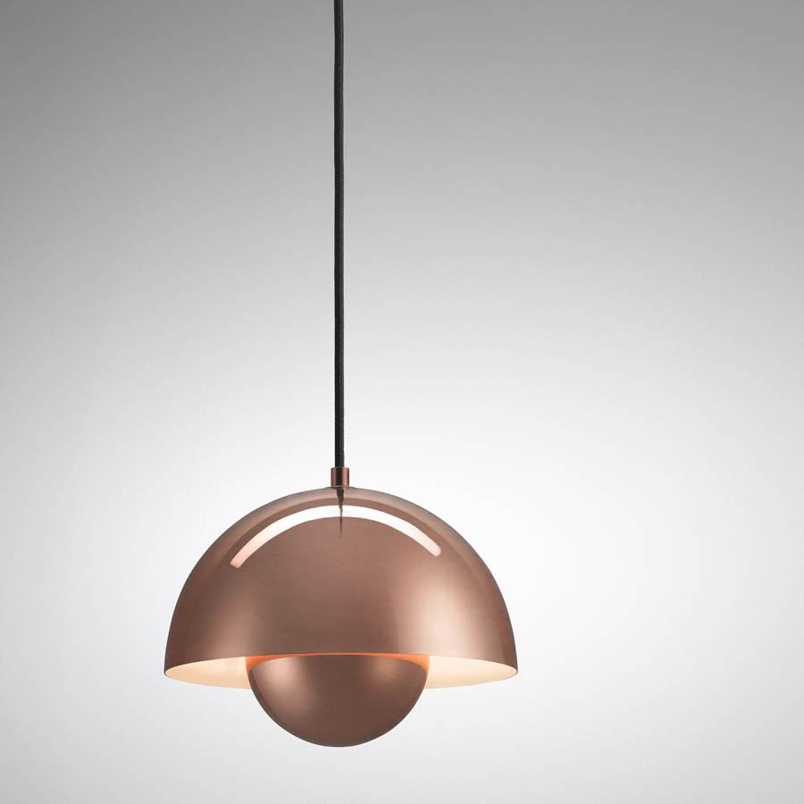 Verner Panton Flowerpot Lamp VP1 Pendant Light Copper