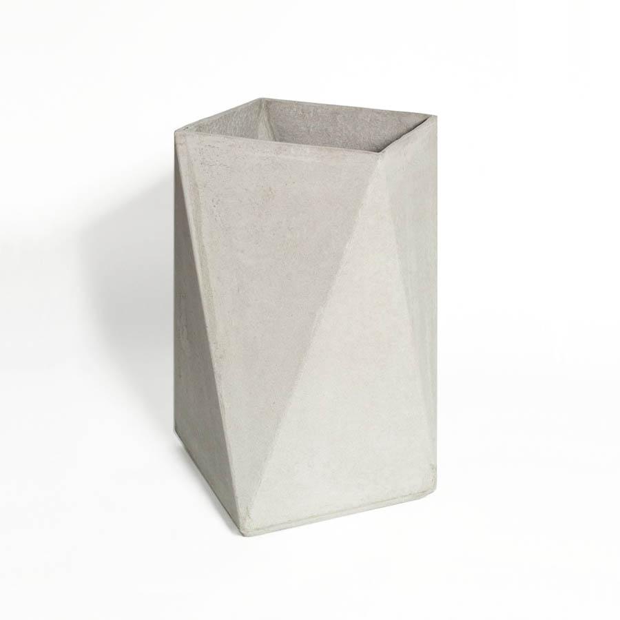Fiber Concrete Tall Square Planter 28 Stardust
