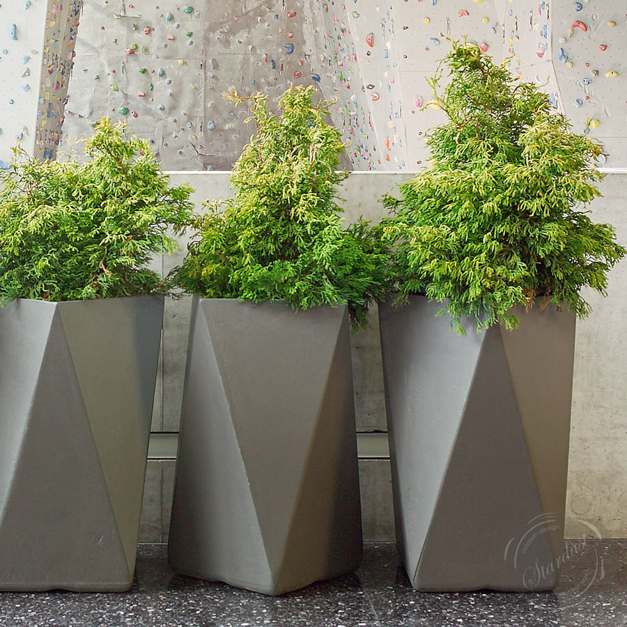 Tall Concrete Planters | Home Design Styles