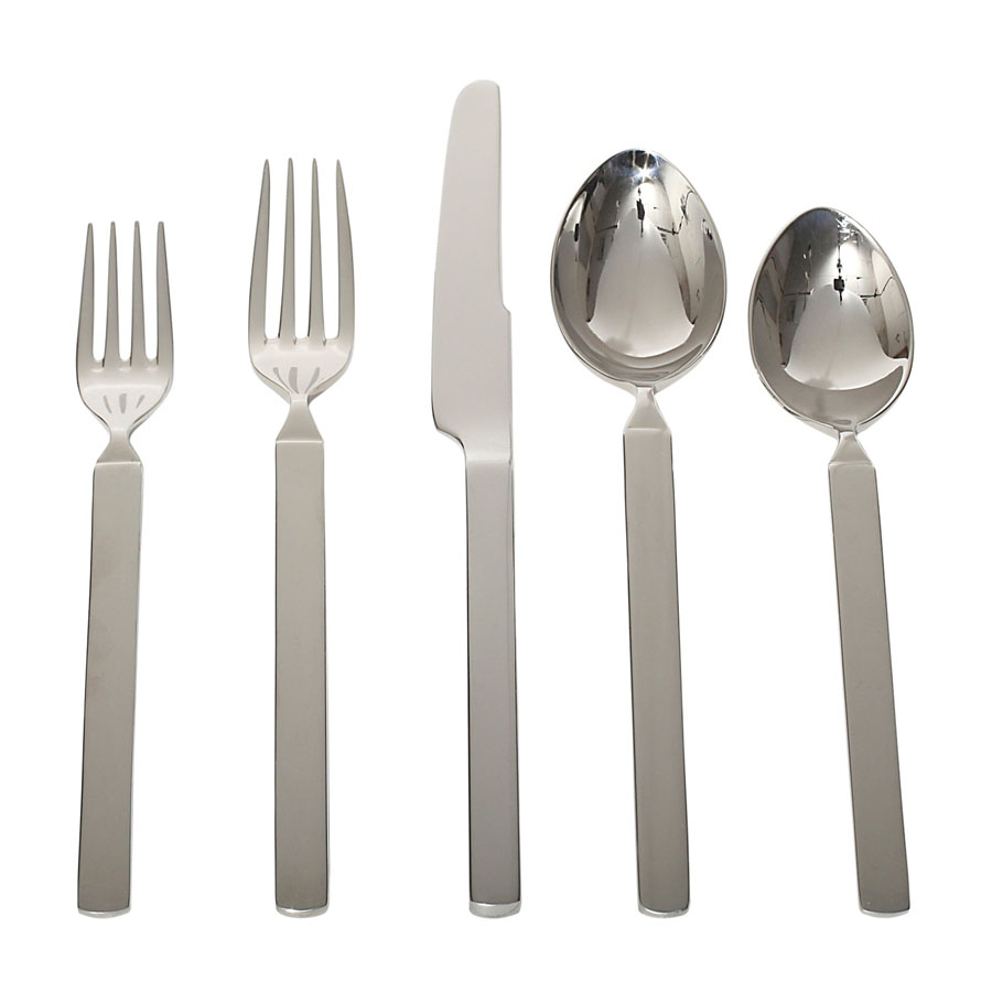 alessi dry piece modern flatware set  alessi dry cutlery  - alessi