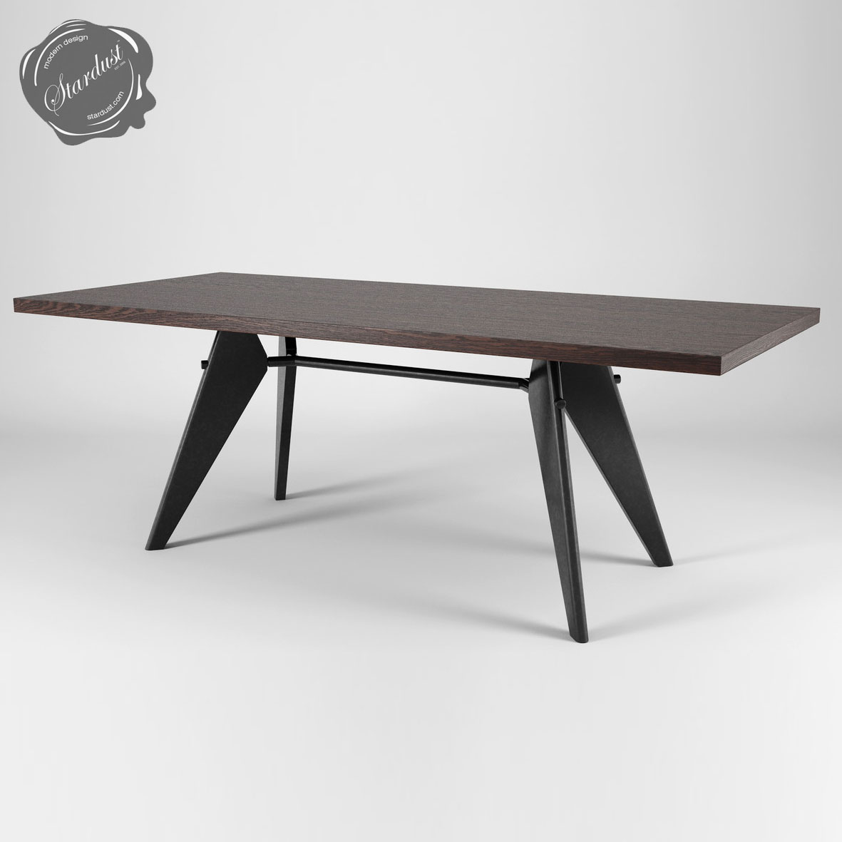 Vitra Em Table By Jean Prouve In Solid Smoked Oak Smoked Em Tables