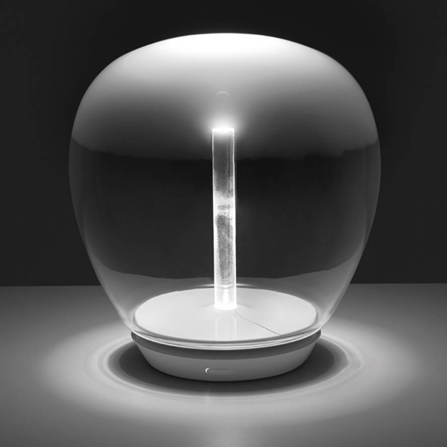 Modern glass table lamp - Artemide Empatia Handblown Murano Modern Glass Led Table Lamp