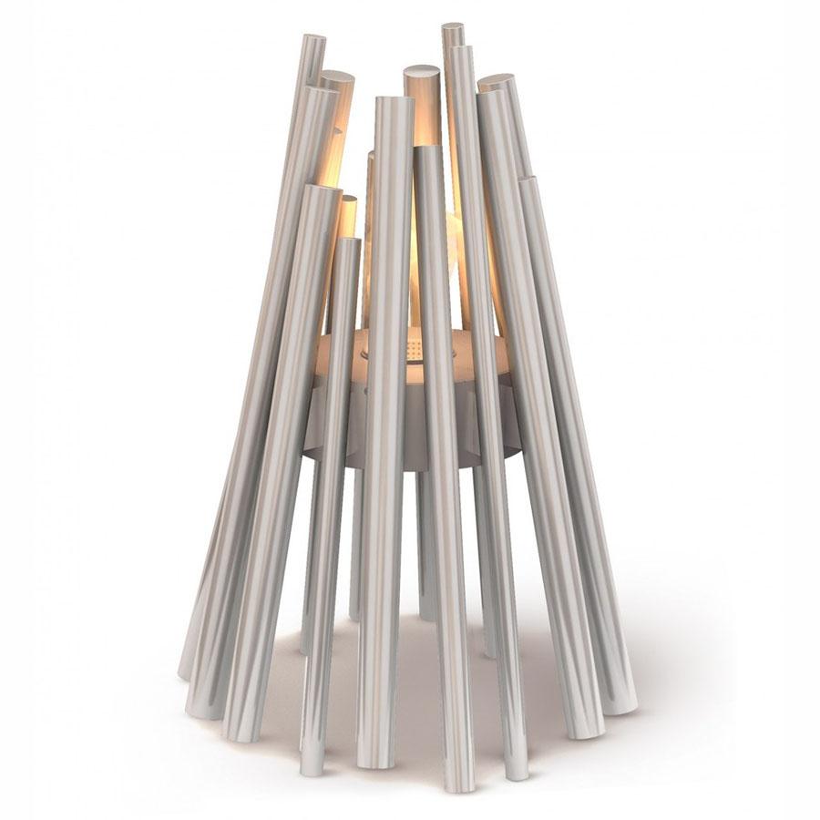ecosmart fire stix modern ventless outdoor fireplace stardust