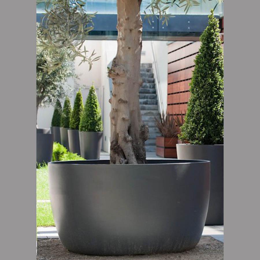 Element Low 17 21 28 35 Round Tapered Concrete Planter Pot