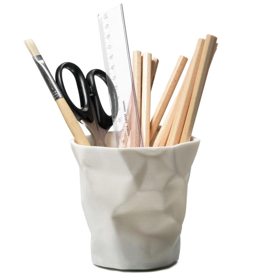 essey 'pen pen' crinkled cup penpencil holder sample sale  stardust - essey 'pen