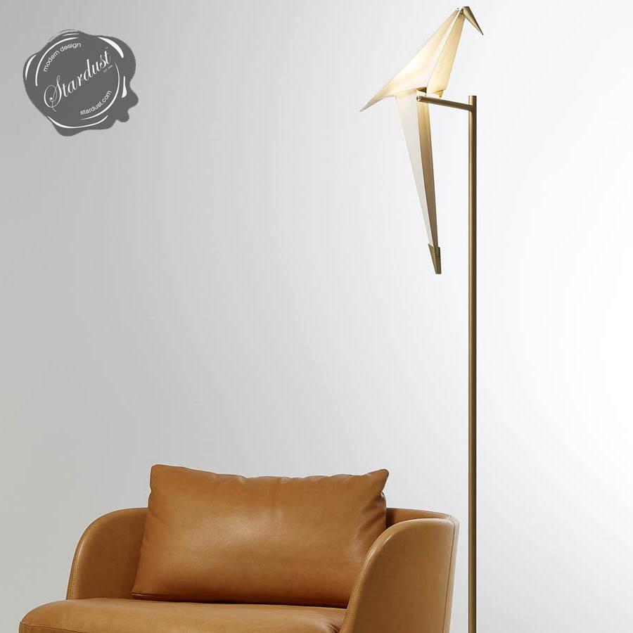 Perch Light Floor Lamp W/Rocking Bird By Moooi