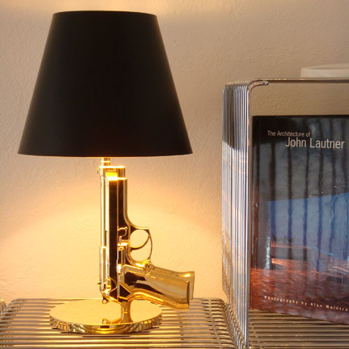 Guns Bedside Modern Gold Bedside Lamp By Philippe Starck Flos
