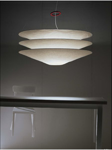 Floatation 174 Paper Lamp Shade Suspension Light By Ingo