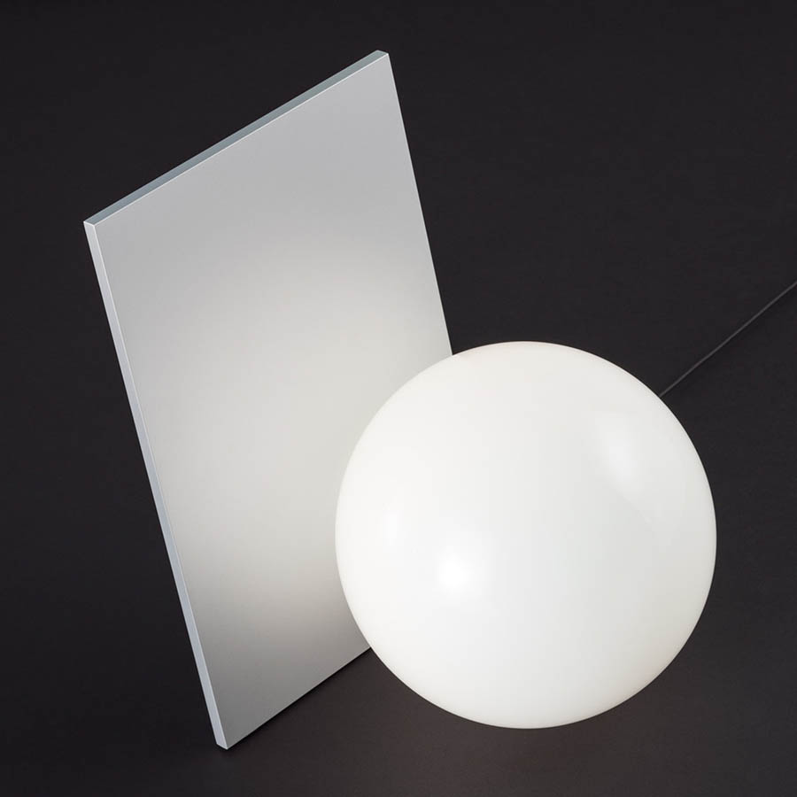 Flos modern extra t 87 aluminum w glass ball table lamp flos geotapseo Gallery