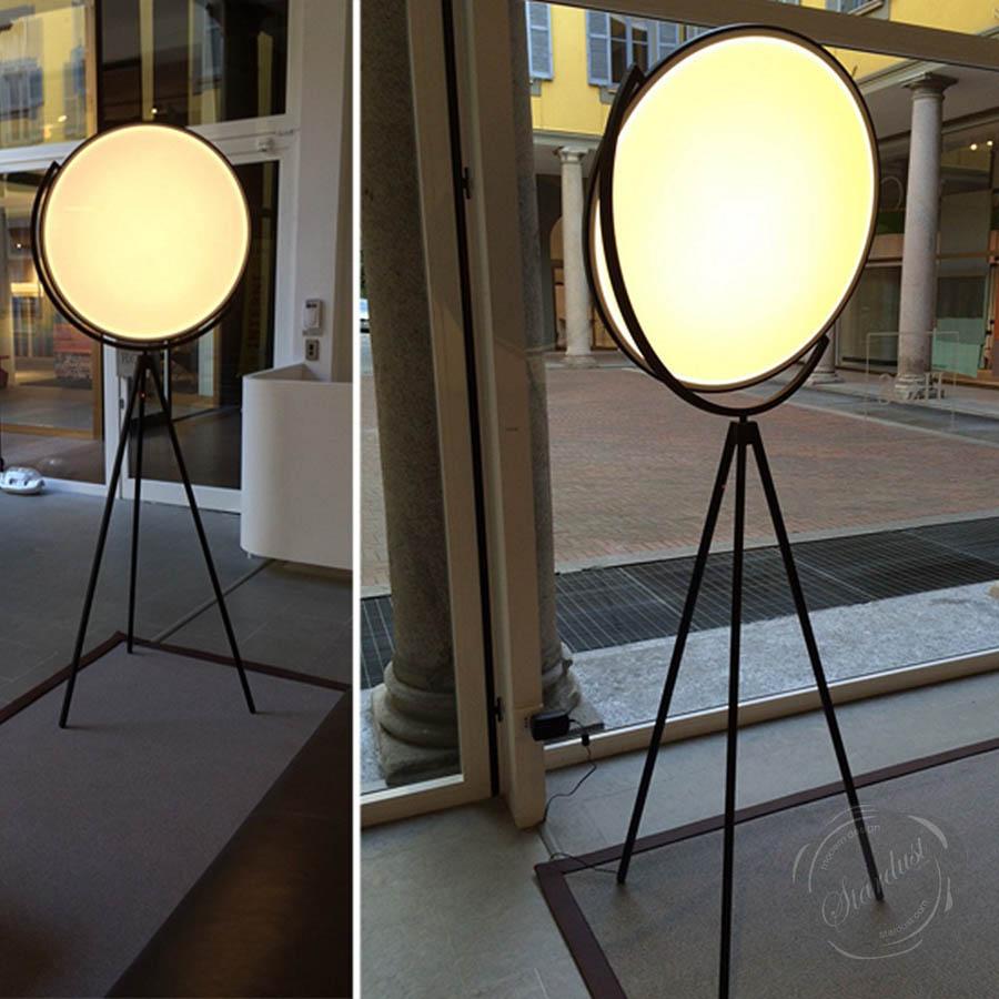 Flos Superloon 78 Modern Tripod Floor Lamp LED White Black Chrome