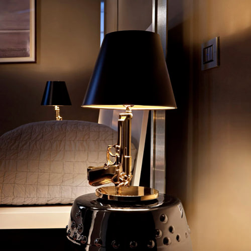 High Quality Flos Gold Bedside Gun Table Lamp ...