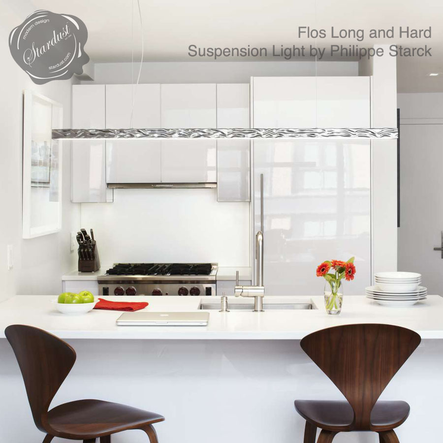Long Kitchen Light Flos Long And Hard Suspension Light Linear Lighting Stardust