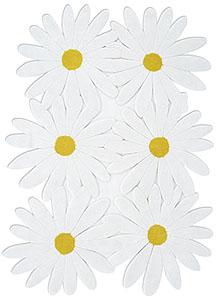 Gandia Blasco Contemporary Daisy Flower 60's Rug by Jose A. Gandia :  flower design designer retro